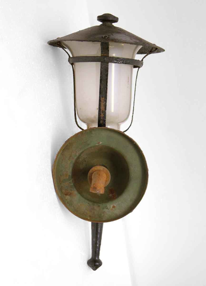 Black Iron Single Lantern Wall Sconce Olde Good Things