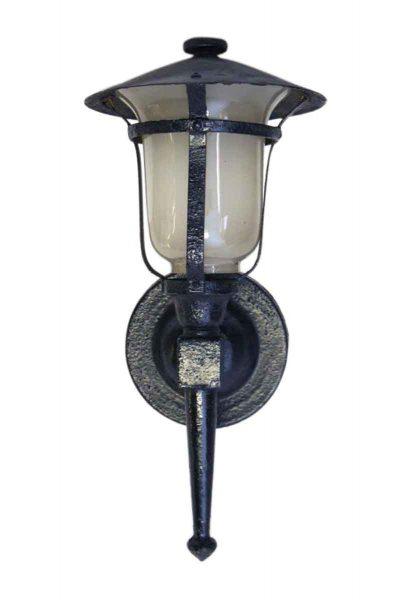 Black Iron Single Lantern Wall Sconce