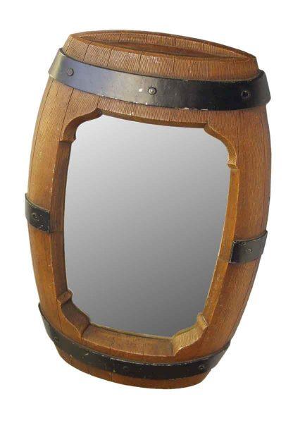 Faux Barrel Framed Mirror