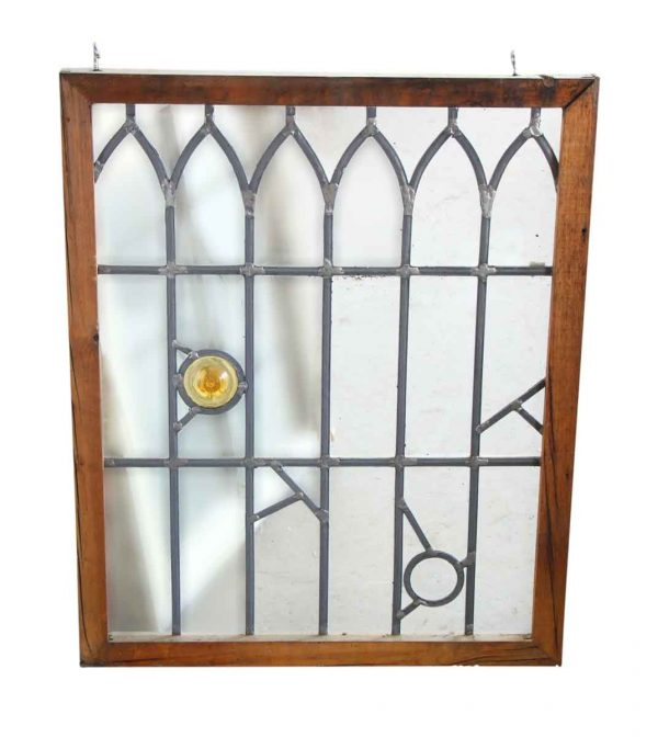 Tudor Style Clear Leaded Glass with Small Decorations