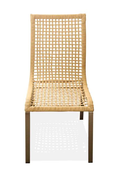Set of Four Wicker Dining Chairs