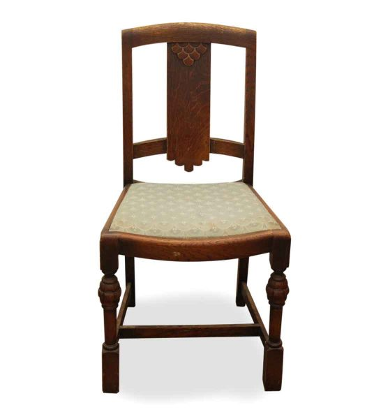 Set of Four Depression Era Wooden Chairs