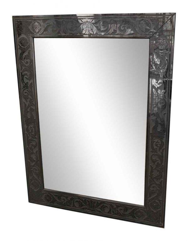 Black Decorative Framed Mirror