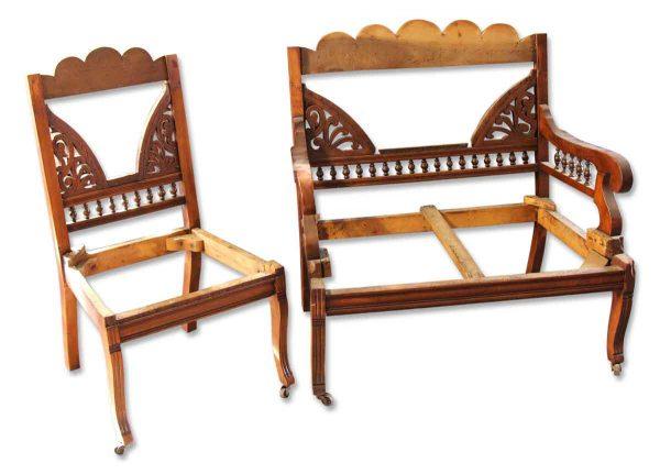 Eastlake Settee & Side Chair Frames