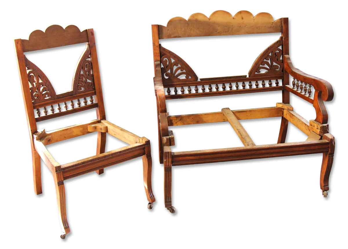 Eastlake Settee U0026 Side Chair Frames