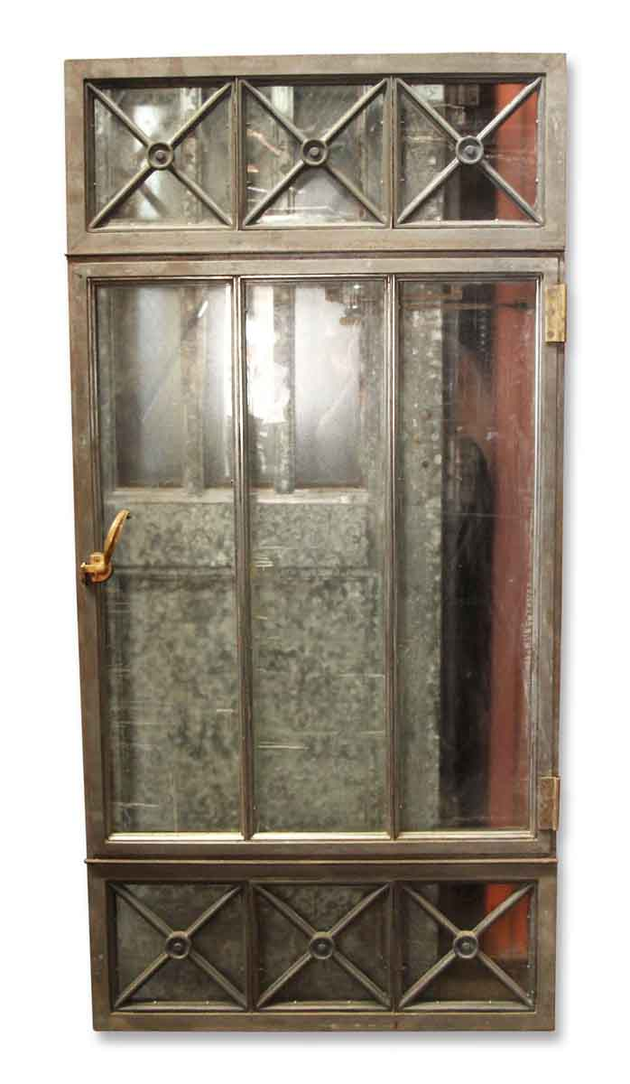 Early 20th Century Cast Iron Window With Glass Panels