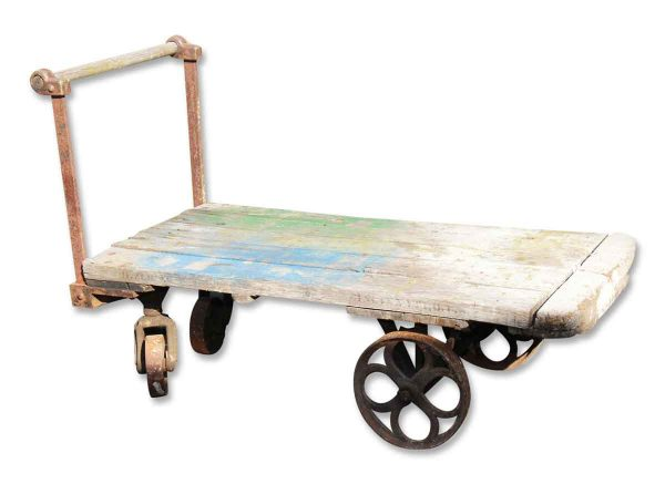 Cool Antique Industrial Cart with Cast Iron Wheels