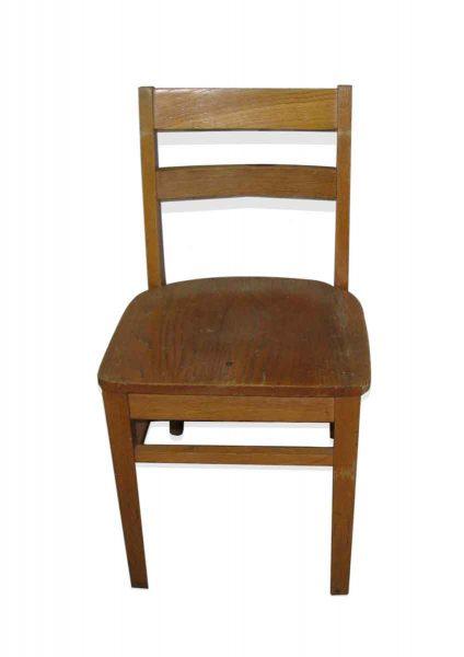 Plain Medium Toned Wooden Chair