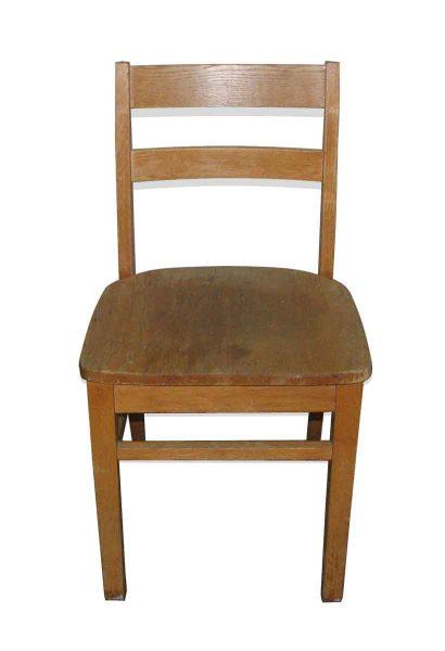 Oak School Chair with Ladder Back