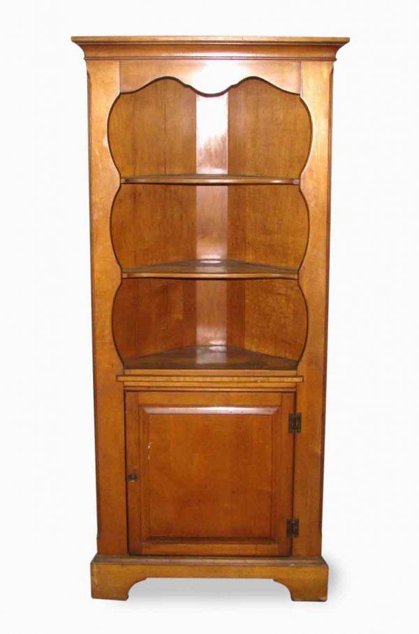Simple Pine Corner Cabinet