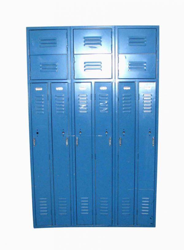Vintage Set of Blue Metal Lockers