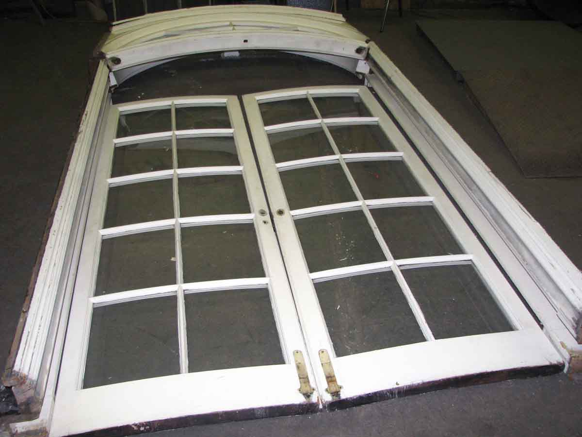 Curved French Doors Complete With Fan Lite Transom Door Jam Olde