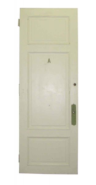 8 Ft. Tall White Door with Three Raised Panels