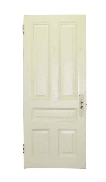 White Door with Five Raised Panels
