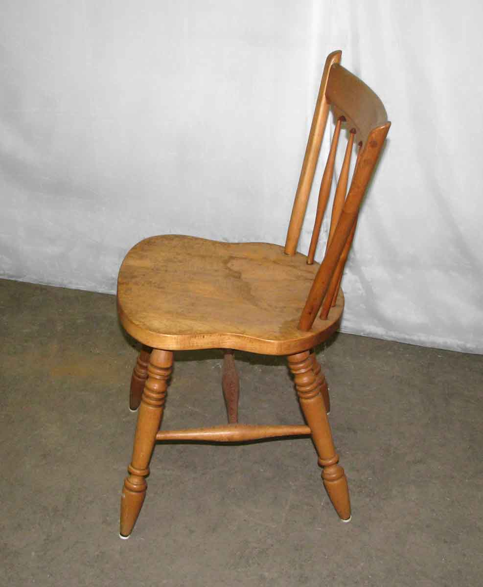 Simple Wooden Spindle Back Chair Olde Good Things
