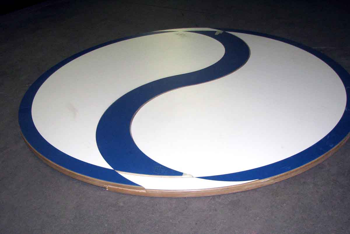 linoleum wood 8 ft table top olde good things. Black Bedroom Furniture Sets. Home Design Ideas
