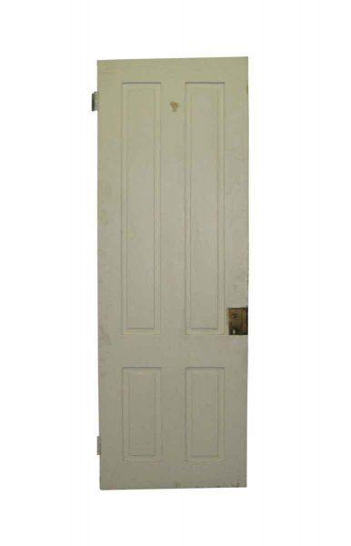 White Four Vertical Panel Door