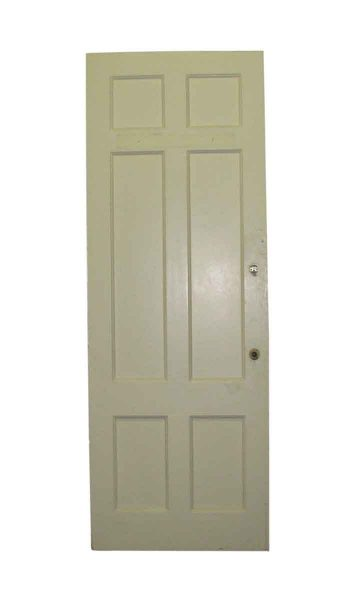 Neat Old Six Recessed Panel Painted Doors