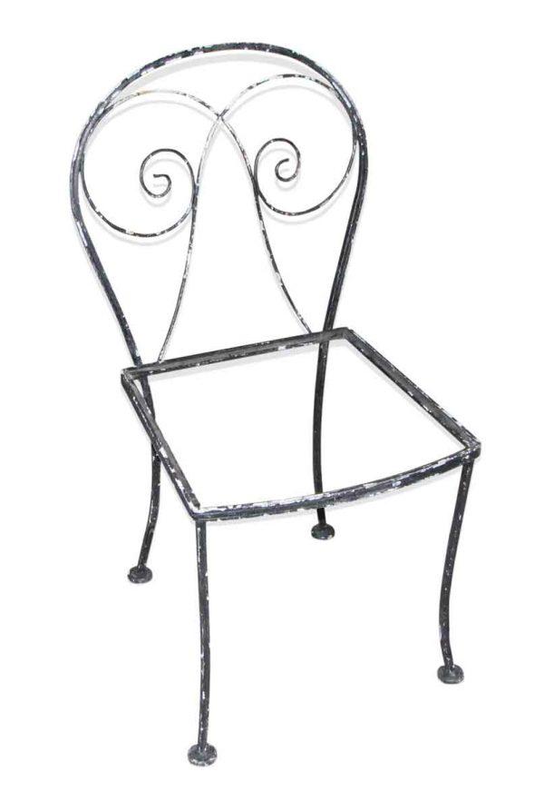Black Iron Patio Chair Set