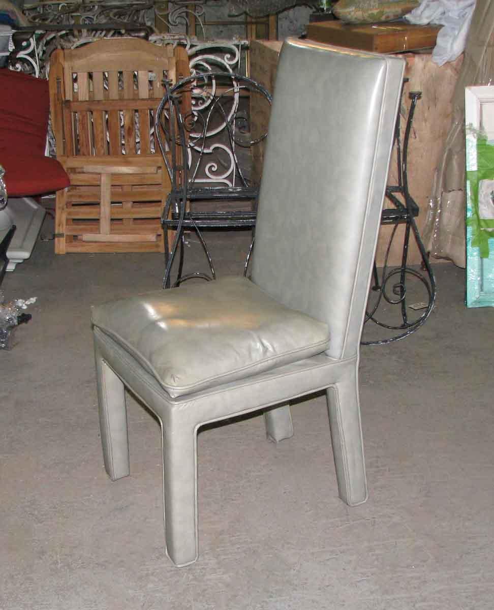 Modern High Kitchen Chairs: Mid Century Modern Vinyl High Back Chairs