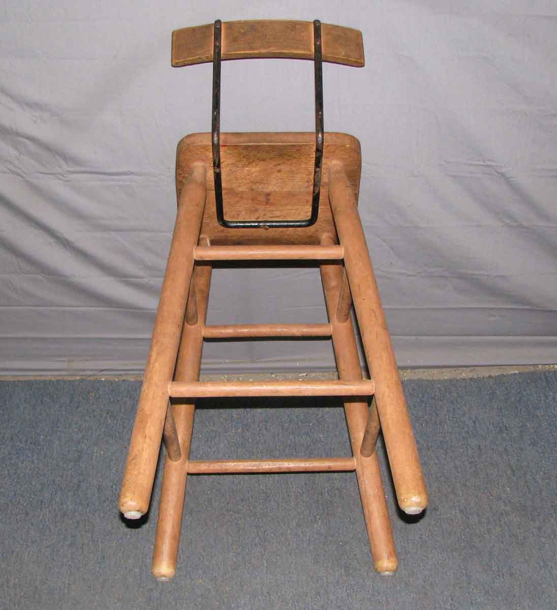 Tall wooden high chair or stool olde good things