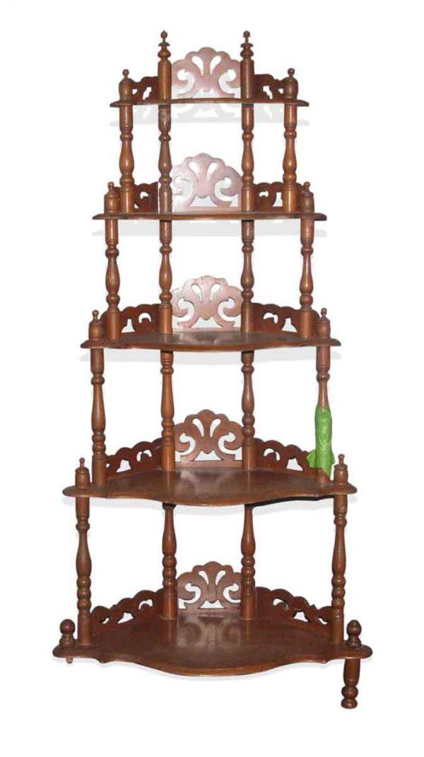 Five Tier Antique Shelf