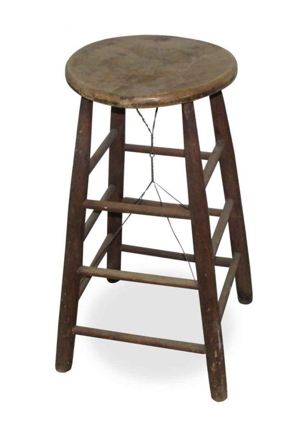 Solid Pine Antique Stool