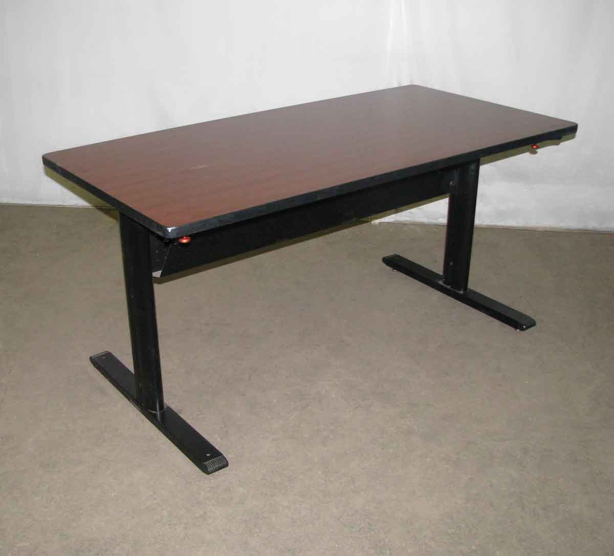 Folding Computer Table With Metal Legs Olde Good Things