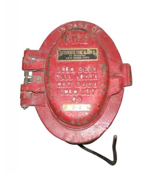 Vintage Cast Iron Fire Alarm