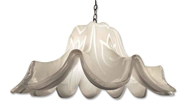 Blown Murano Glass Tulip Shaped Pendant Light