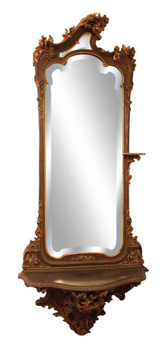 Rococo Hall Mirror with Shelf