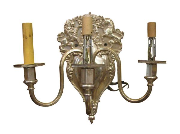 Three Armed Caldwell Sliver Plated Sconce