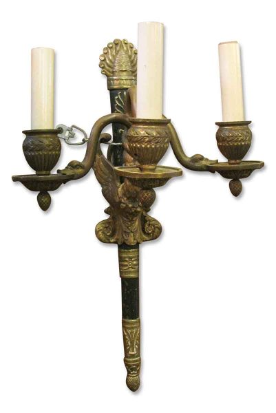 Antique Single Three Armed French Sconce