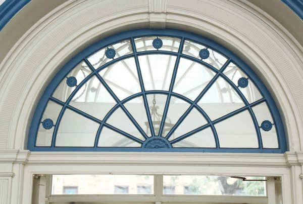 Antique Leaded Transom Window