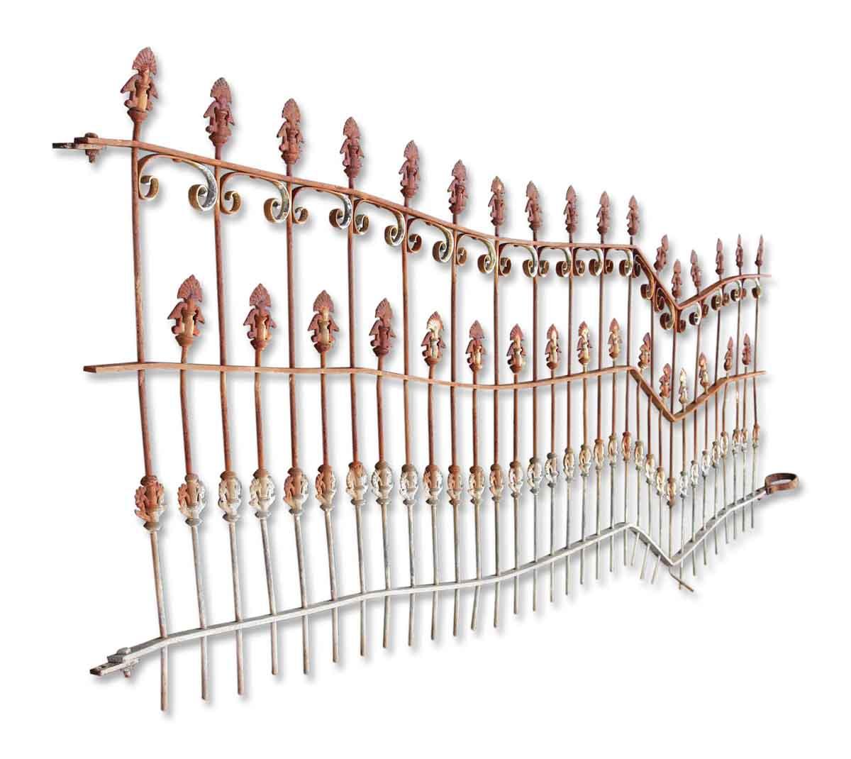 Ornate civil war era wrought iron fence olde good things