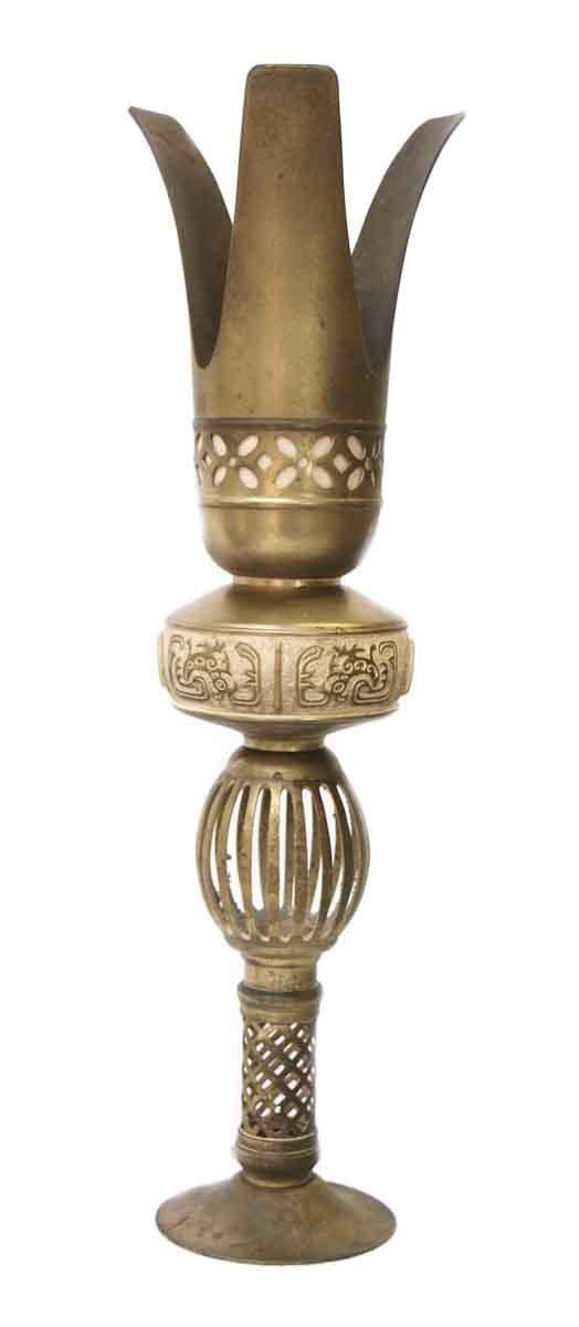 Antique Brass Lamp Base Piece