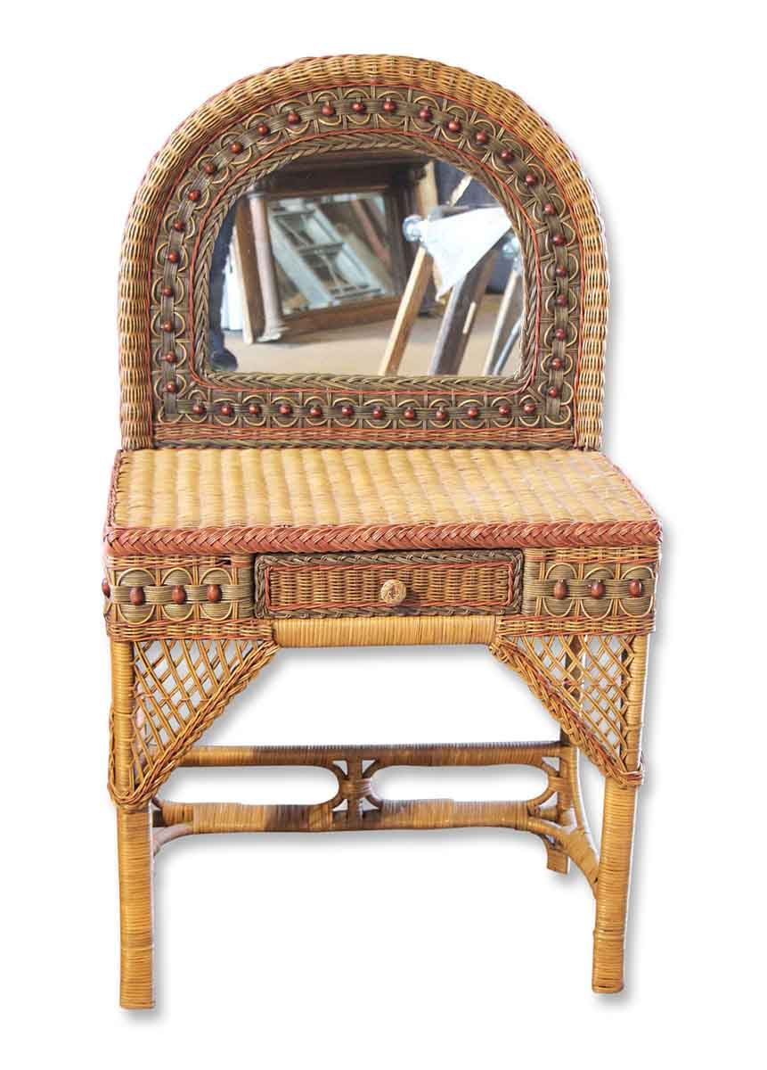 Petite Vintage Wicker Vanity Olde Good Things