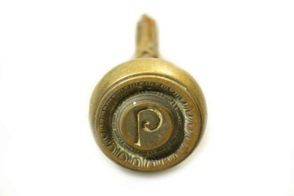 P Emblematic Decorative Bronze Knob