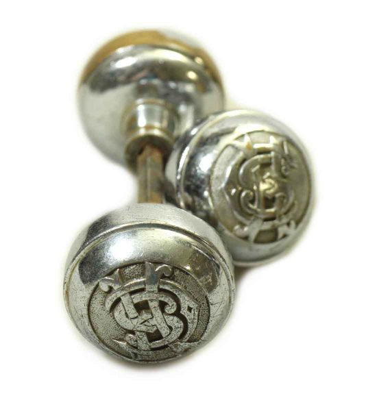 Nickel Plated Emblematic Knob Set