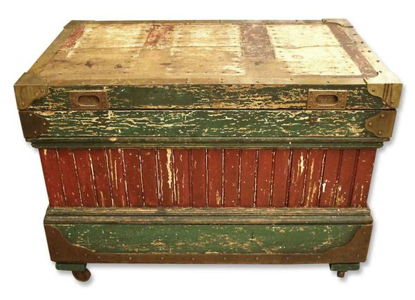 19th Century Rare Crafted Wood Tool Box
