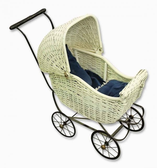 Vintage Wicker Doll Stroller