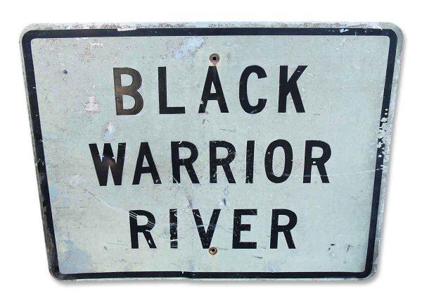 Vintage Enamel Over Steel Black Warrior River Sign