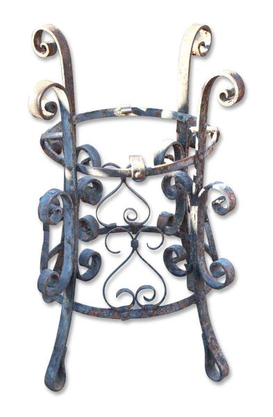 Wrought Iron Curly Outdoor Planter