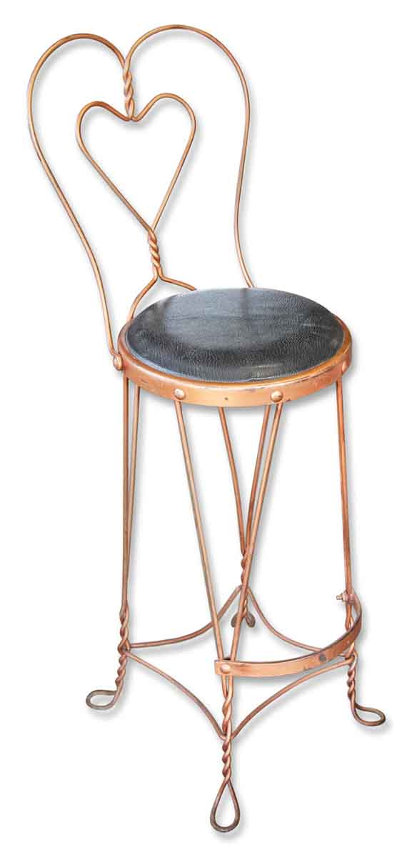 Copper Counter Height Ice Cream Chair
