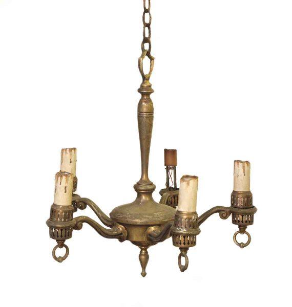 Brass Five Light Chandelier