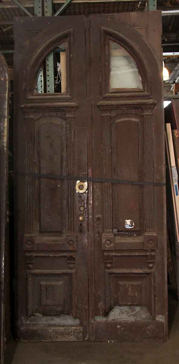 Brownstone Entry Doors With Arched Window Olde Good Things
