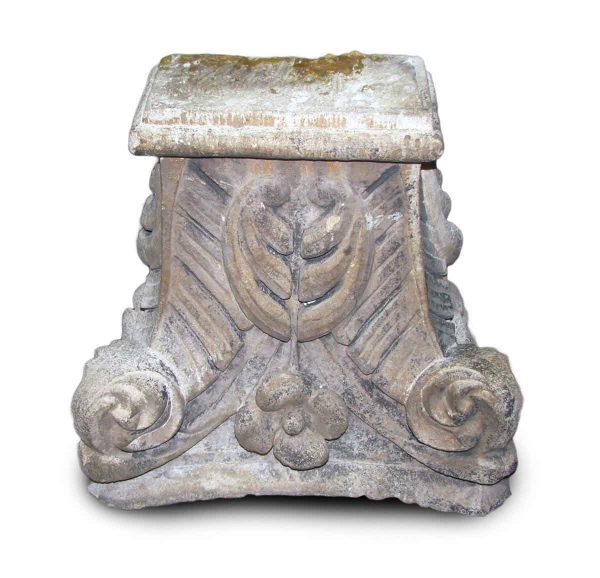 Carved Limestone Pilaster Capitals