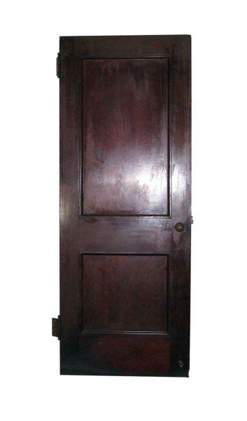 Dark Toned Wooden Door with Two Panels
