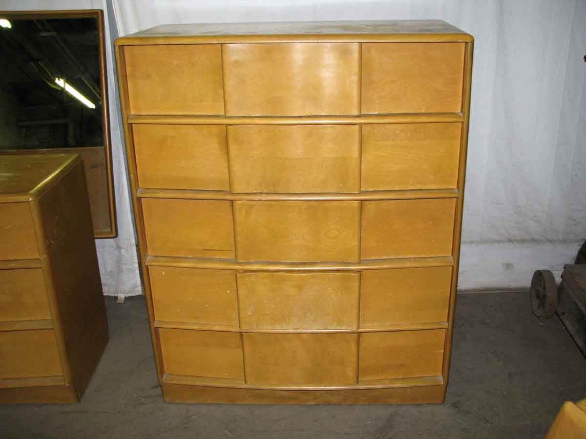 mid century maple bedroom set heywood wakefield olde good things. Black Bedroom Furniture Sets. Home Design Ideas