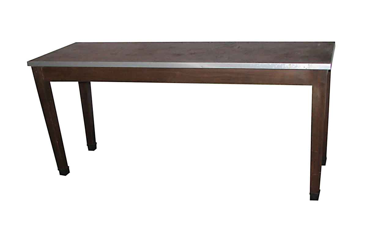 Long Narrow Industrial Style Work Table